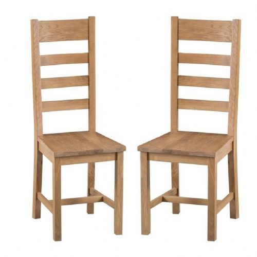 Chelmsford Oak Ladder Back Chair With Solid Pad